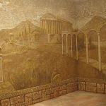 Древняя Греция на стене в интерьере