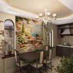 Кухня с красивым интерьером