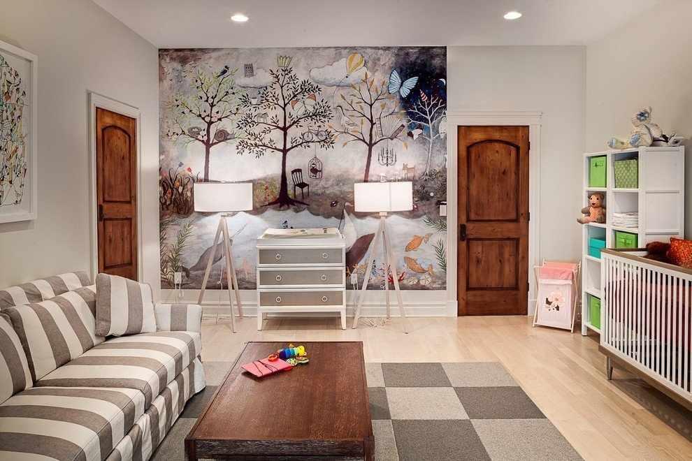 Интерьер детской с фреской