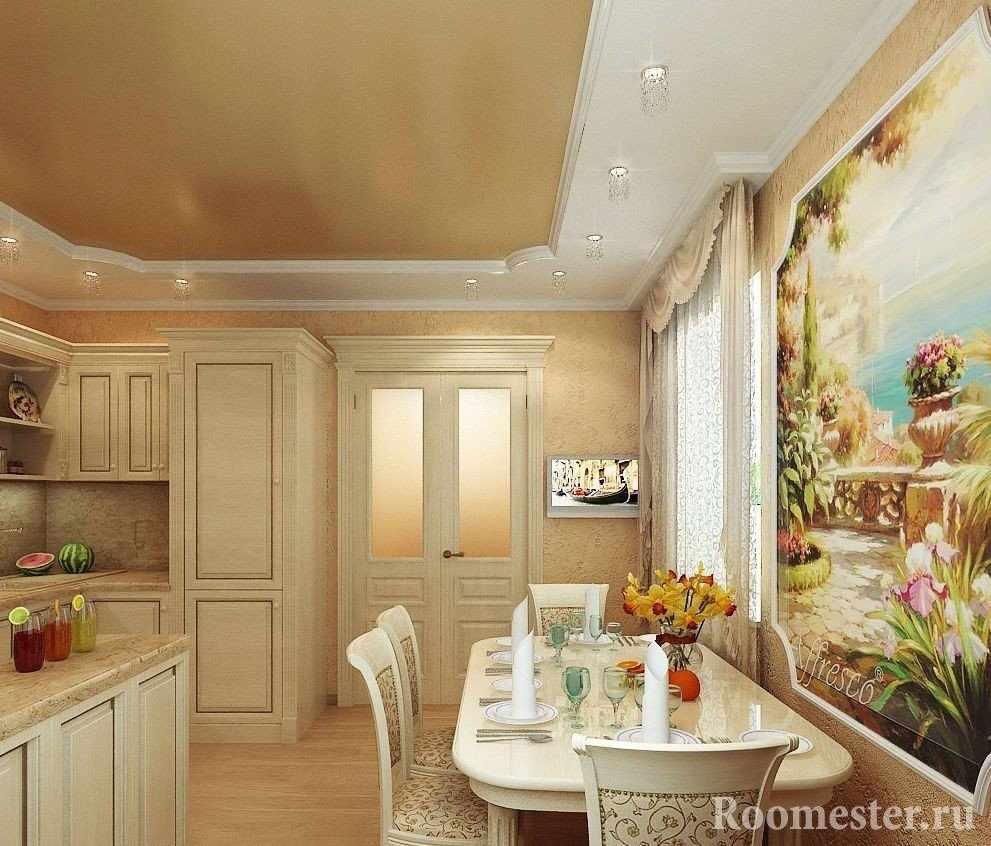 Фреска на стене кухни