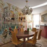Венеция на стене в столовой