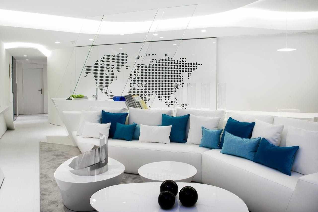 Белый интерьер в стиле футуризм
