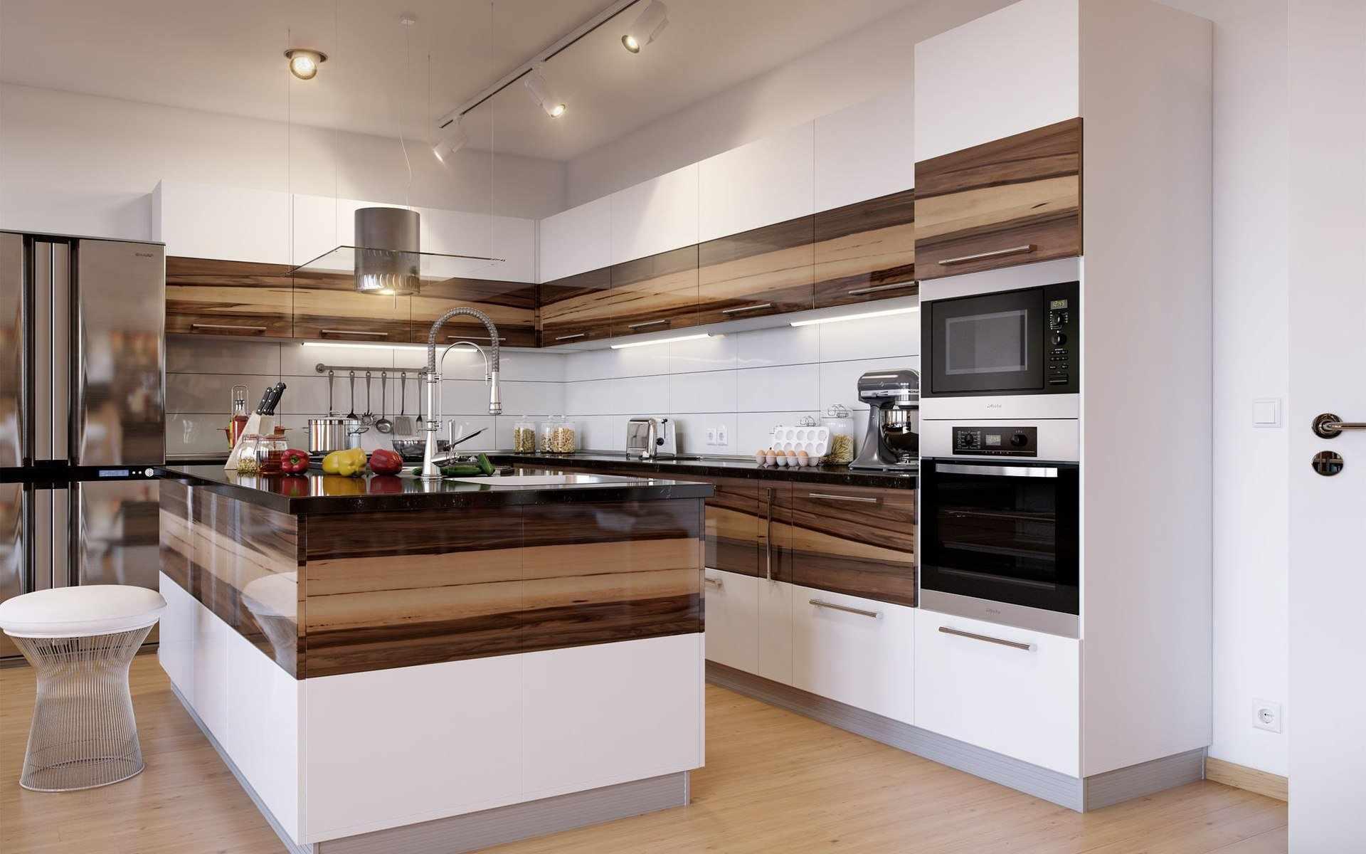 Г-образная планировка кухни: расположение гарнитура