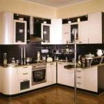 оформление кухни с барной стойкой