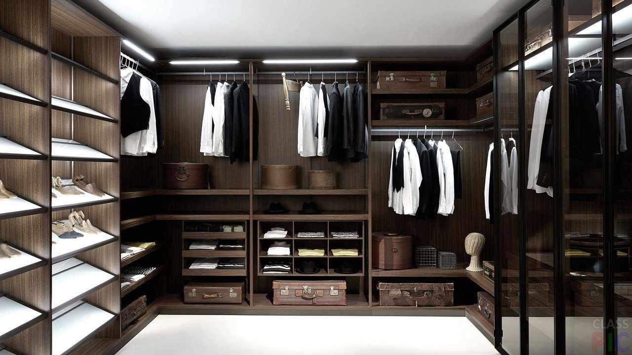 Виды гардеробных систем хранения