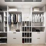 Дизайн белой гардеробной