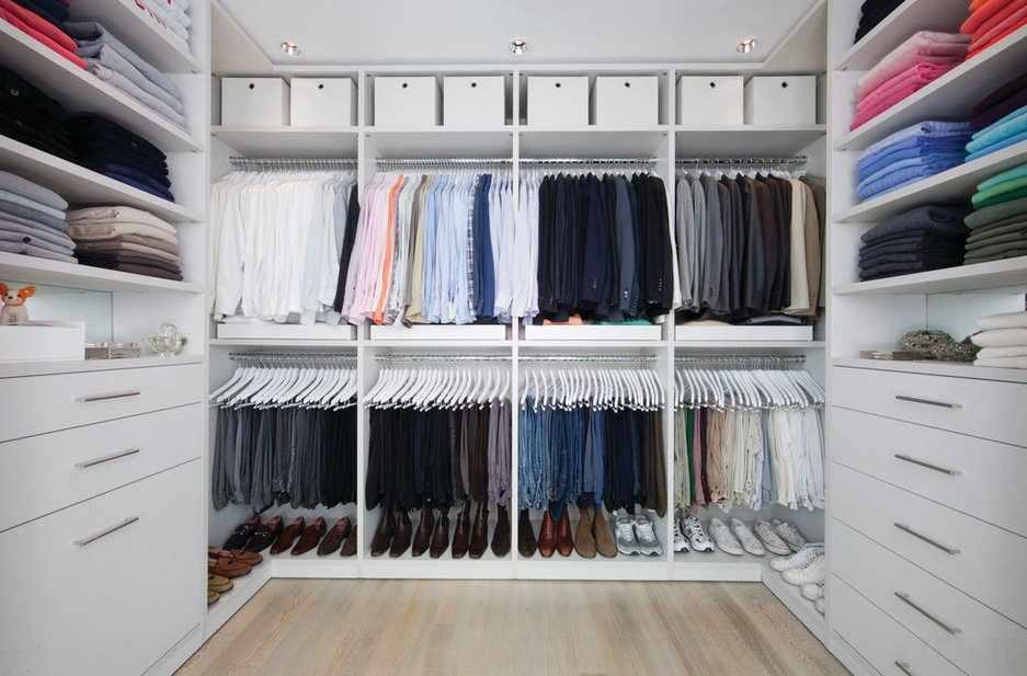Устройство гардеробной комнаты