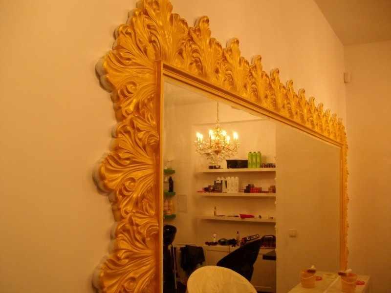 Рама для зеркала под золото