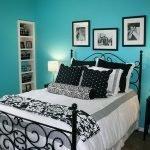 Бирюзовые стены в спальне