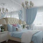 Голубые мотивы в спальне