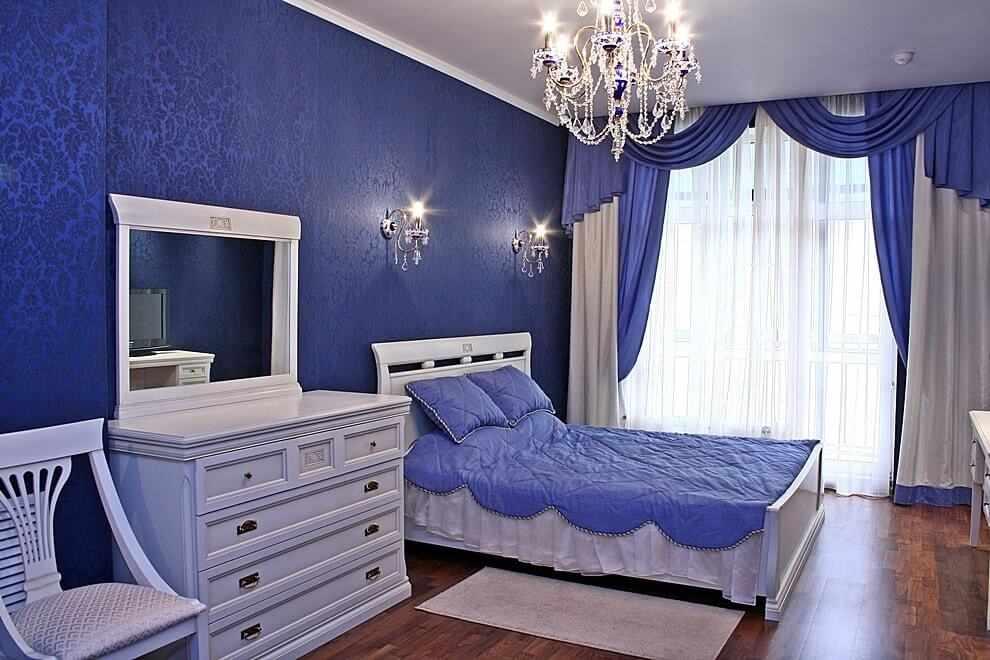 Дизайн в голубом цвете
