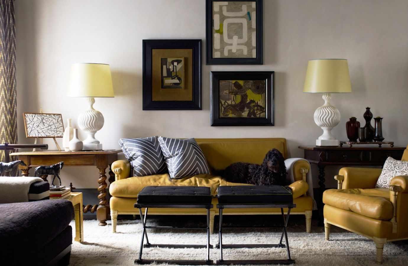 Мебель горчичного цвета