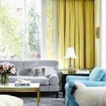 Яркие шторы в интерьере
