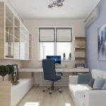 Интерьер комнаты с рабочей зоной