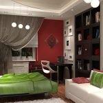 Спальня с рабочим местом дизайн