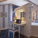 Гостиная-спальня в кантри стиле