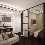 Гостиная-спальня в современном стиле