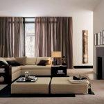 Бежевая мебель в интерьере гостиной