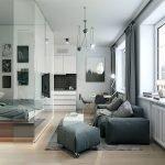Гостиная-спальня в хай-тек стиле