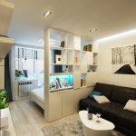 Спальня-гостиная в скандинавском стиле