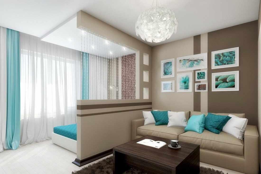 Дизайн спальни с гостиной