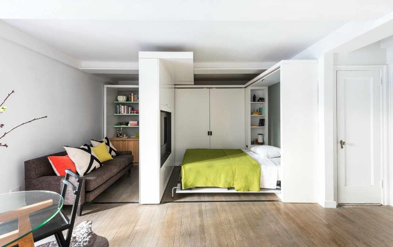 Квартира студия с кроватью