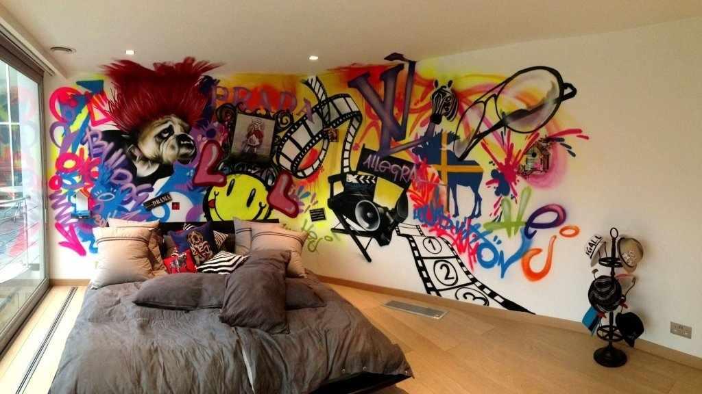 Интерьер с граффити
