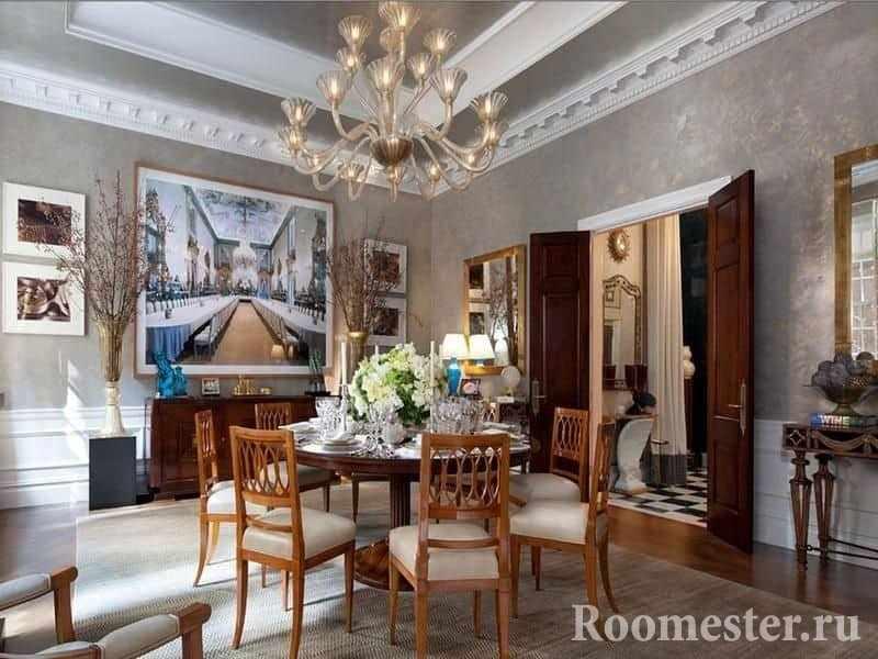 Интерьер гостиной в греческом стиле