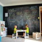 Детский столик у стены