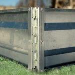 Крепежный элемент для металлической грядки
