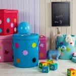 Хранение игрушек в корзинах