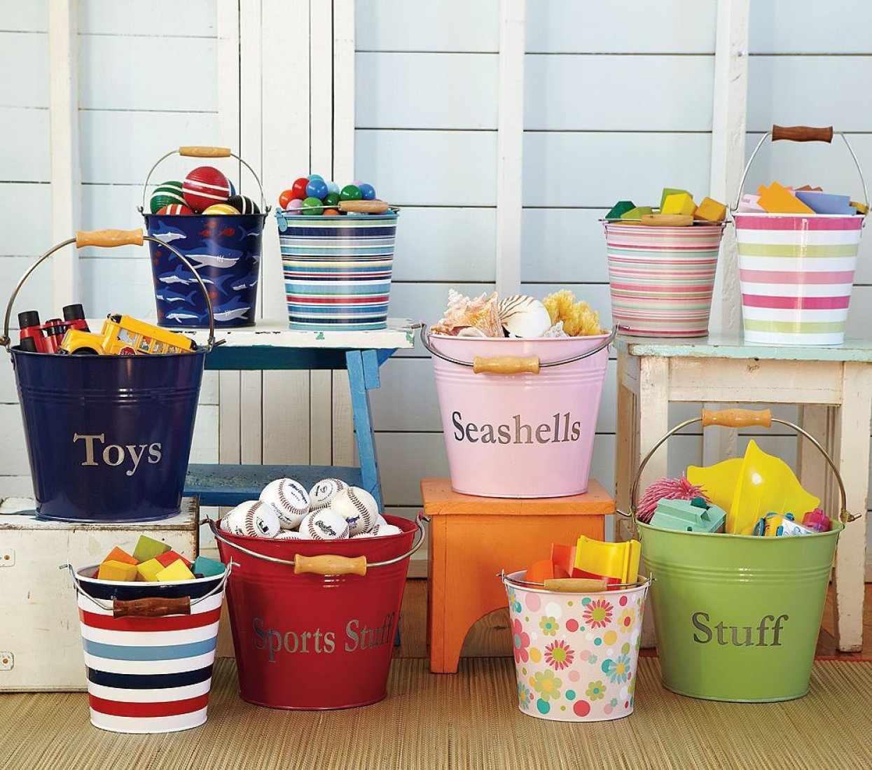 Ведра для хранения игрушек