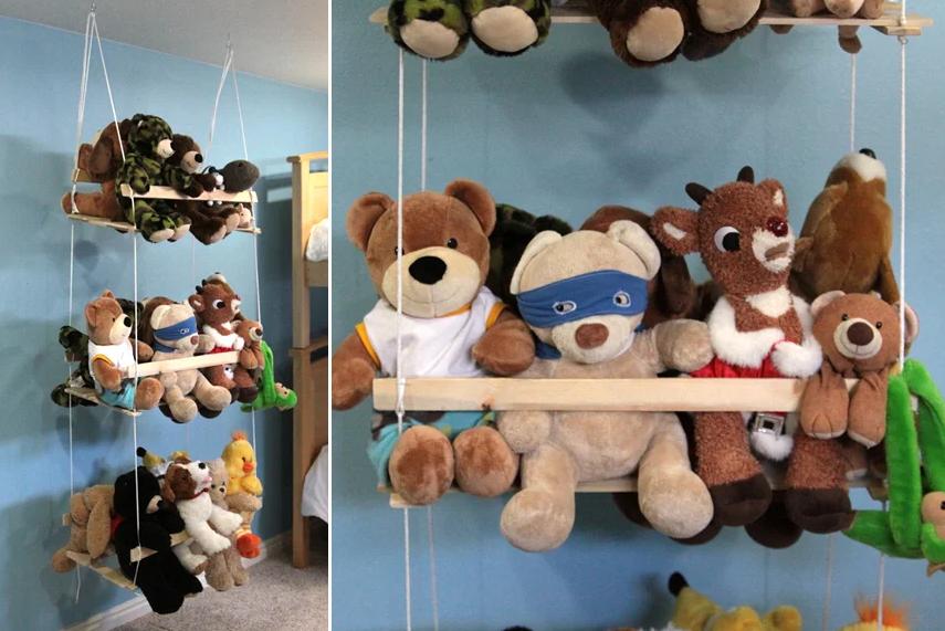 Хранение плюшевых игрушек