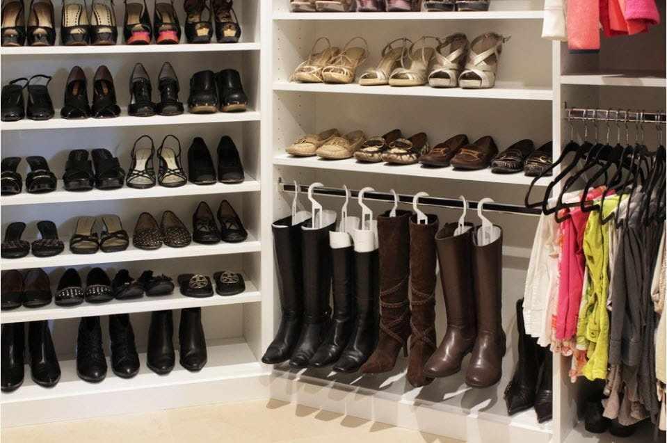 Хранение обуви в гардеробной