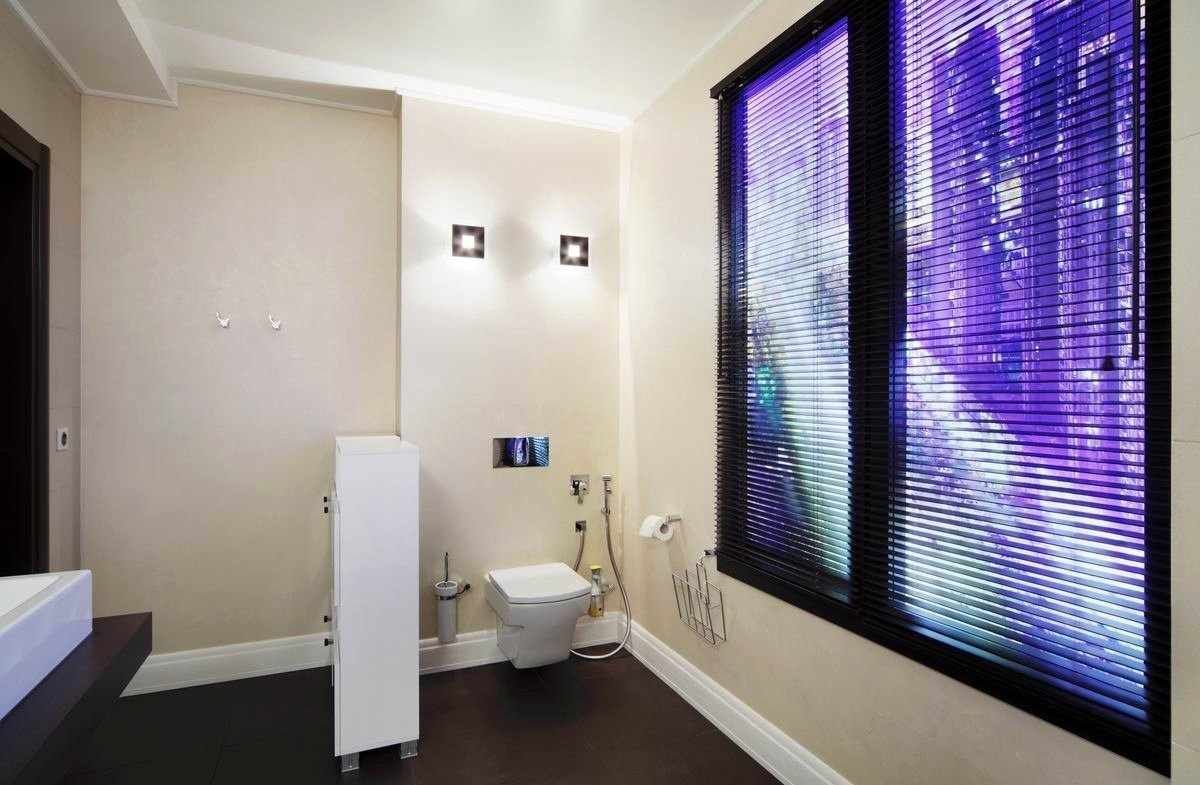 Виртуальное окно в туалете