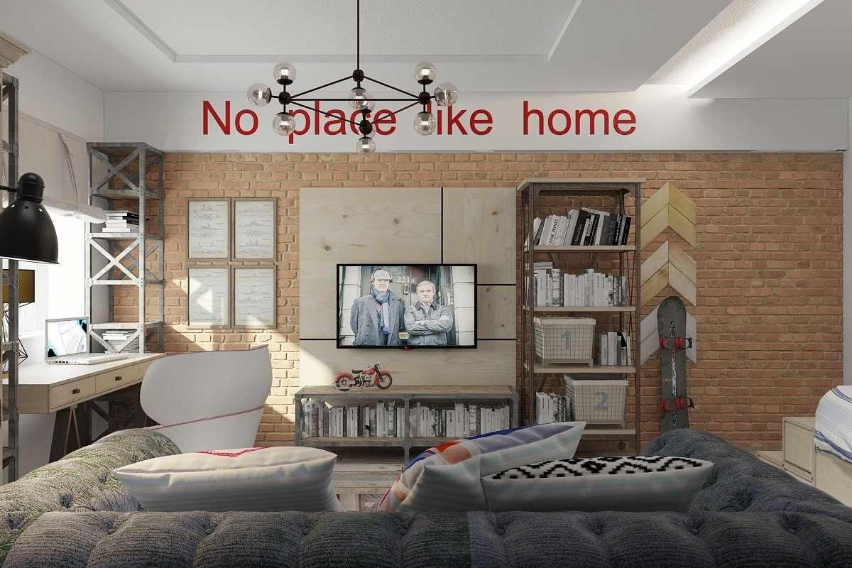 Комната подростка в индустриальном стиле