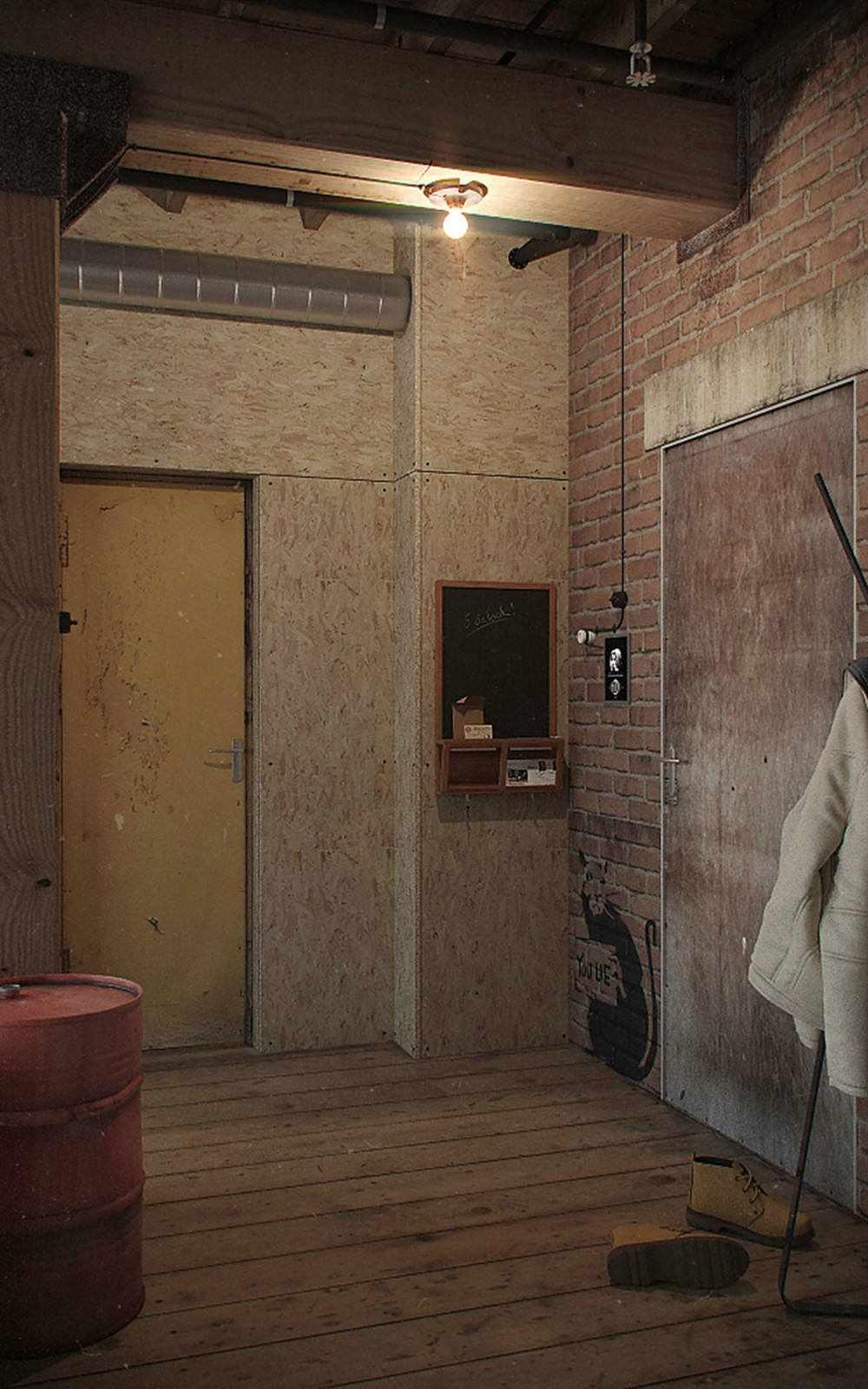 Грифельная доска на стене