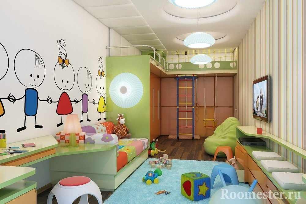 Яркий дизайн детской