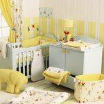 Детская с желто-бежевым дизайном