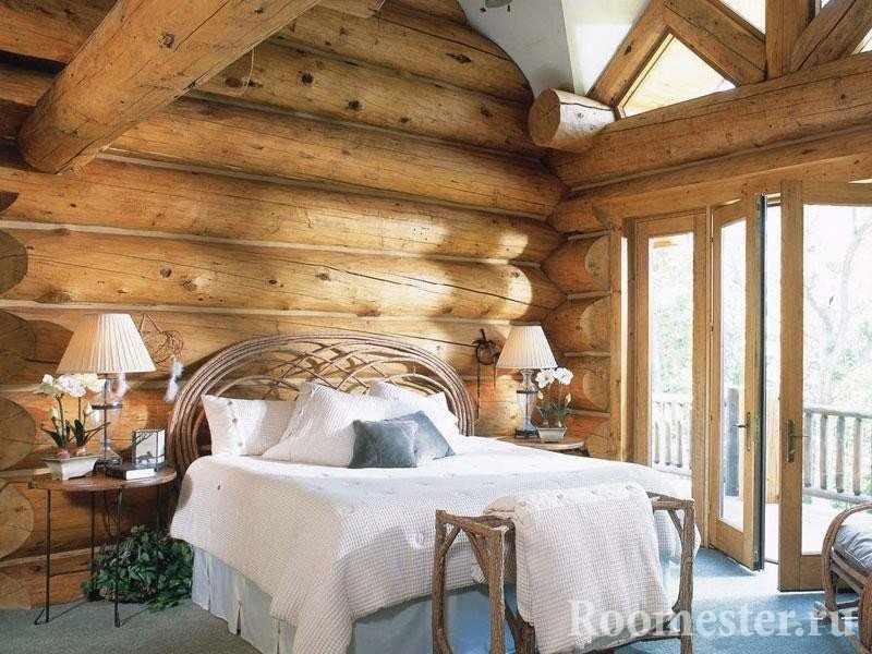 Стиль шале в спальне