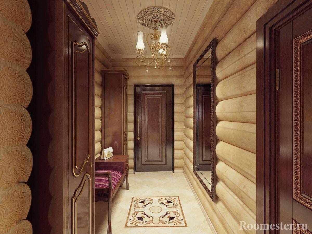 Дизайн прихожей бревенчатого дома