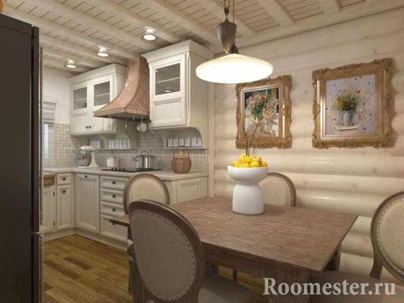 Кухня в бревенчатом доме