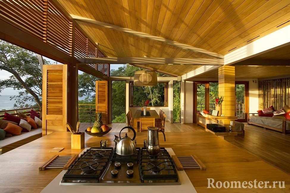 Кухня с видом на природу