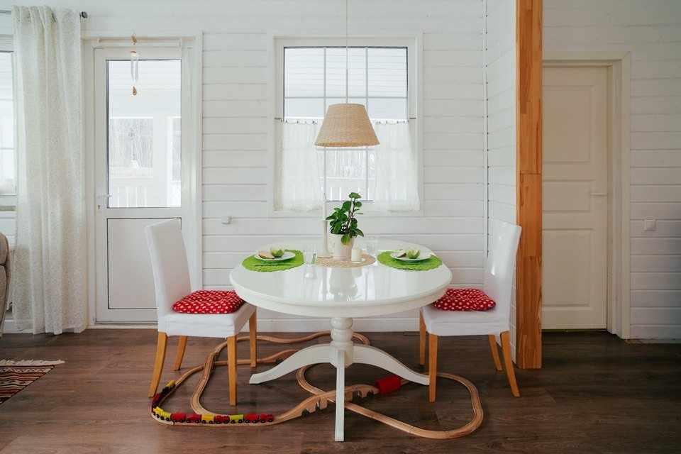 Скандинавский стиль в интерьере дома из бруса
