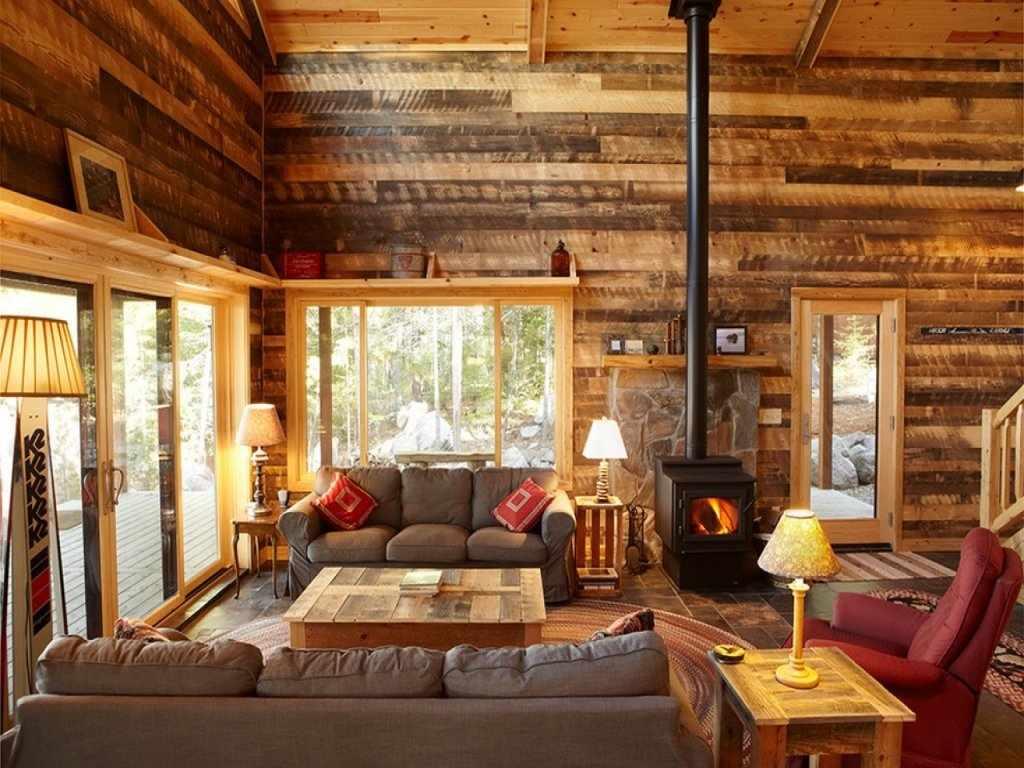 Рустикальный стиль в интерьере дома из бруса