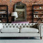 Серый диван в стиле лофт