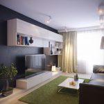 Гостиная с минимумом мебели