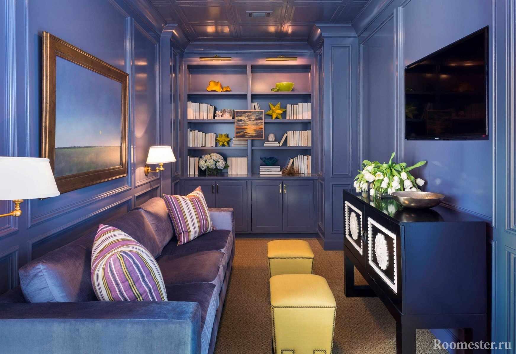 Необычное цветовое решение для гостиной
