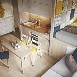 Кухня, столовая и гостиная в одной комнате