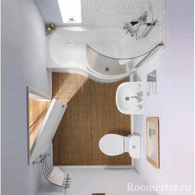 Современная ванна интересной формы